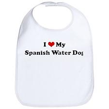 I Love Spanish Water Dog Bib