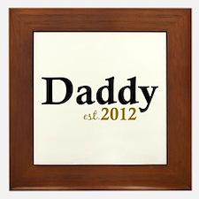 Daddy Est 2012 Framed Tile