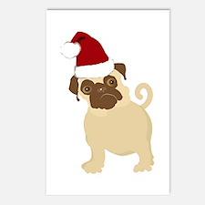 Santa Pug Postcards (Package of 8)