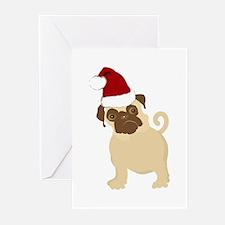 Santa Pug Greeting Cards (Pk of 10)