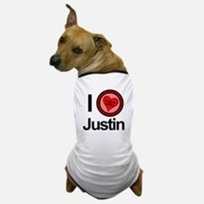 I Love Justin Brothers & Sisters Dog T-Shirt