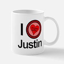 I Love Justin Brothers & Sisters Mug
