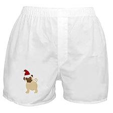 Santa Pug Boxer Shorts