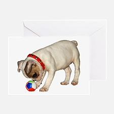 """French Bulldog 1"" Greeting Card"