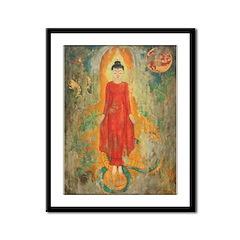 The World Behind Buddha Framed frint