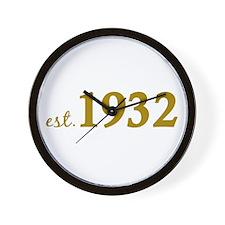 Est 1932 (Birth Year) Wall Clock