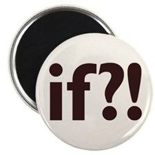 if?! white/brown Magnet