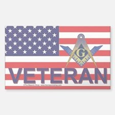 Masonic Veterans Sticker (Rectangle)