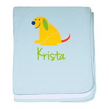 Krista Loves Puppies baby blanket