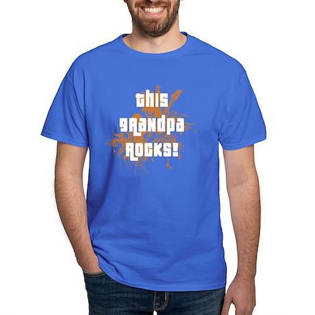 This Grandpa Rocks Dark T-Shirt