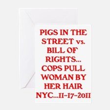 PIGS IN THE STREET vs. THE BI Greeting Card