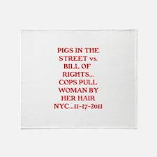 PIGS IN THE STREET vs. THE BI Throw Blanket