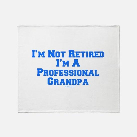 Professional Grandpa Throw Blanket