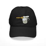 Shaving Brush Cup Black Cap