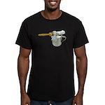 Shaving Brush Cup Men's Fitted T-Shirt (dark)
