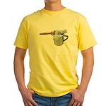 Shaving Brush Cup Yellow T-Shirt