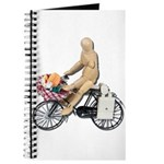 Riding Bike with Basket of Fo Journal