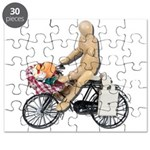 Riding Bike with Basket of Fo Puzzle