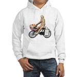 Riding Bike with Basket of Fo Hooded Sweatshirt