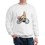 Riding Bike with Basket of Fo Sweatshirt