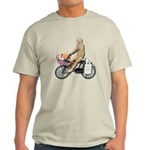 Riding Bike with Basket of Fo Light T-Shirt