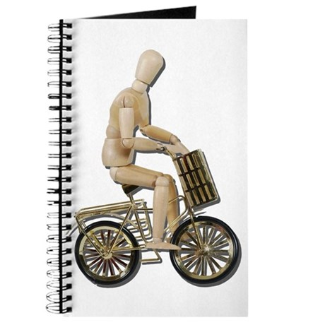 Riding Bicycle with Basket Journal