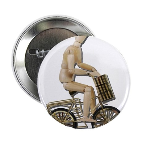 "Riding Bicycle with Basket 2.25"" Button (100 pack)"