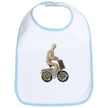 Riding Bicycle with Basket Bib