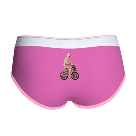 Riding Bicycle with Basket Women's Boy Brief