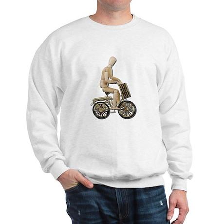 Riding Bicycle with Basket Sweatshirt