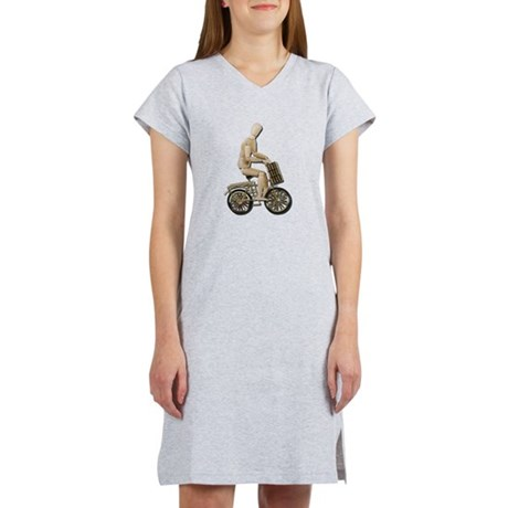 Riding Bicycle with Basket Women's Nightshirt