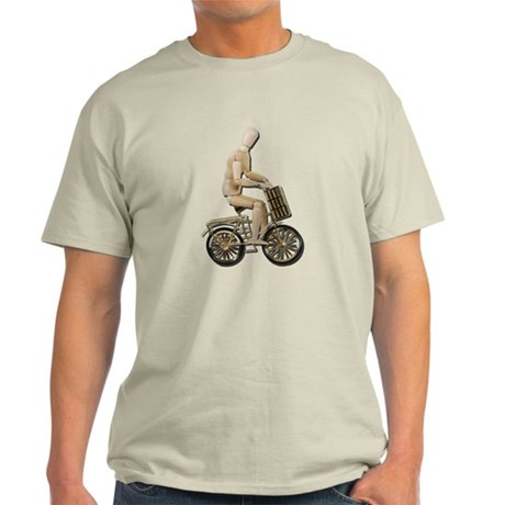 Riding Bicycle with Basket Light T-Shirt