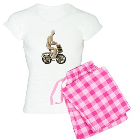 Riding Bicycle with Basket Women's Light Pajamas
