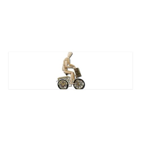 Riding Bicycle with Basket 21x7 Wall Peel