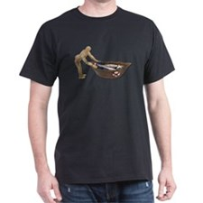 Pushing Rowboat with Nets T-Shirt