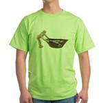 Pushing Rowboat with Nets Green T-Shirt