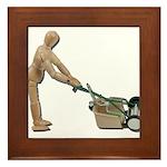 Pushing Lawnmower Framed Tile