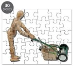 Pushing Lawnmower Puzzle