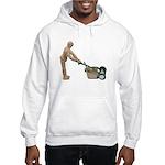 Pushing Lawnmower Hooded Sweatshirt