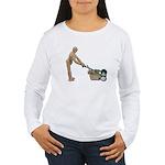 Pushing Lawnmower Women's Long Sleeve T-Shirt
