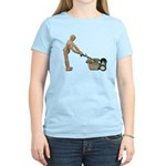 Pushing Lawnmower Women's Light T-Shirt