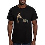Pushing Lawnmower Men's Fitted T-Shirt (dark)