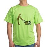 Pushing Lawnmower Green T-Shirt