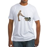 Pushing Lawnmower Fitted T-Shirt