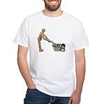 Pushing Lawnmower White T-Shirt