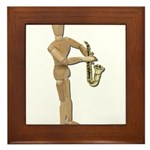 Playing Simple Sax Framed Tile