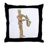 Playing Simple Sax Throw Pillow