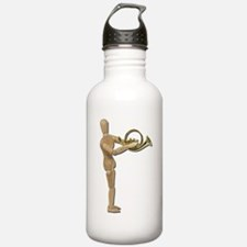 Play Simple French Horn Water Bottle