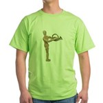 Play Simple French Horn Green T-Shirt