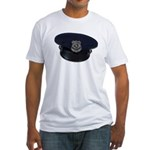 Police Badge Cap Fitted T-Shirt